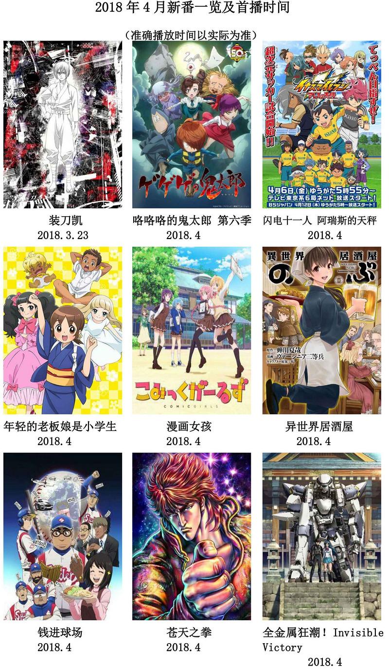 2018年4月新番速报!-C3动漫网