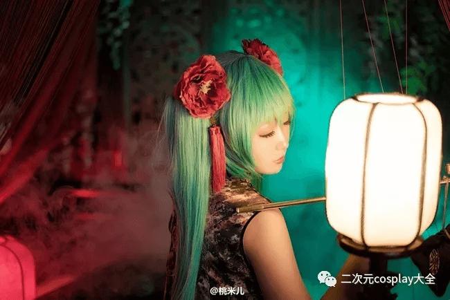 miku插画青魁姬旗袍cos,风姿绰约好漂亮的初音公主-C3动漫网