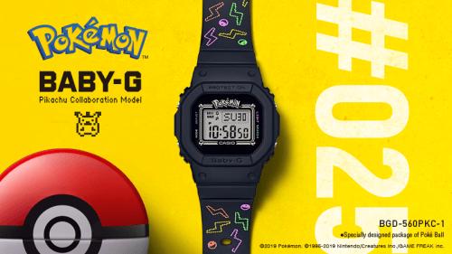 BABY-G × 皮卡丘限量合作款 第25只宝可梦为BABY-G诞生25周年-C3动漫网